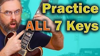 Practice your Licks in ALL 7 keys!