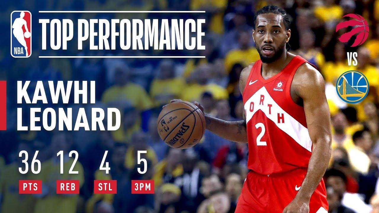 ba9529a6bbc Kawhi Leonard Drops A Finals Career-High 36 Points In Game 4 | 2019 NBA  Finals