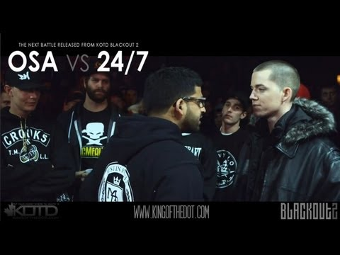 KOTD - Rap Battle - Osa vs 24/7