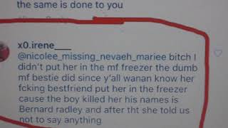 Kenneka Jenkins ..... Irene snitches and mentions the killers name