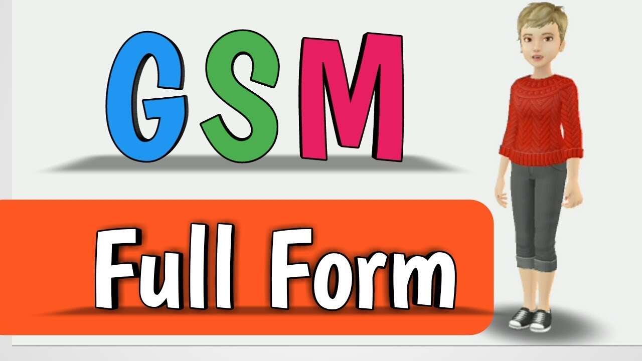 GSM Full form - YouTube