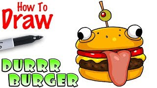 How to Draw the Durrr Burger | Fortnite