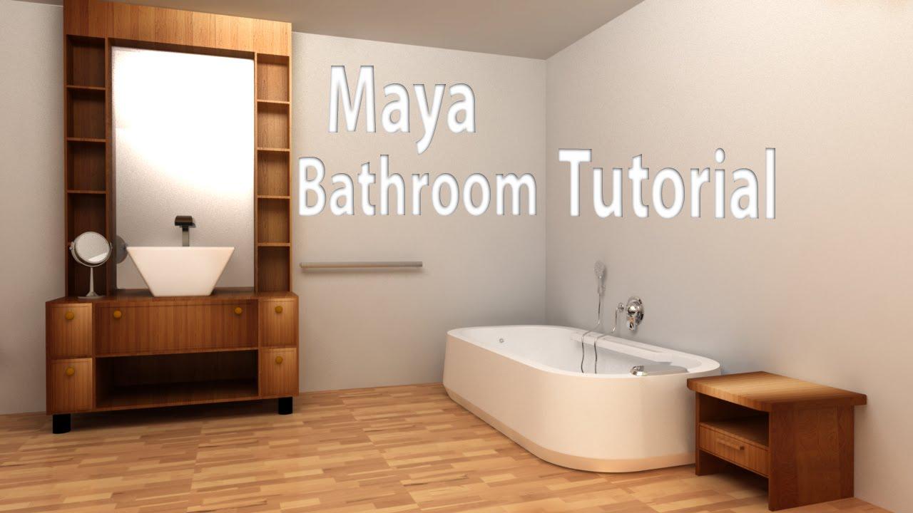 Maya Modeling Tutorial Bathroom Part 1 Youtube