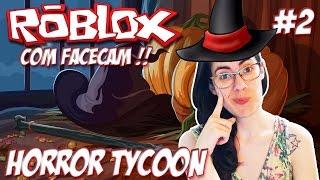 Roblox con Facecam-my colección de sombreros (Horror Tycoon #2)