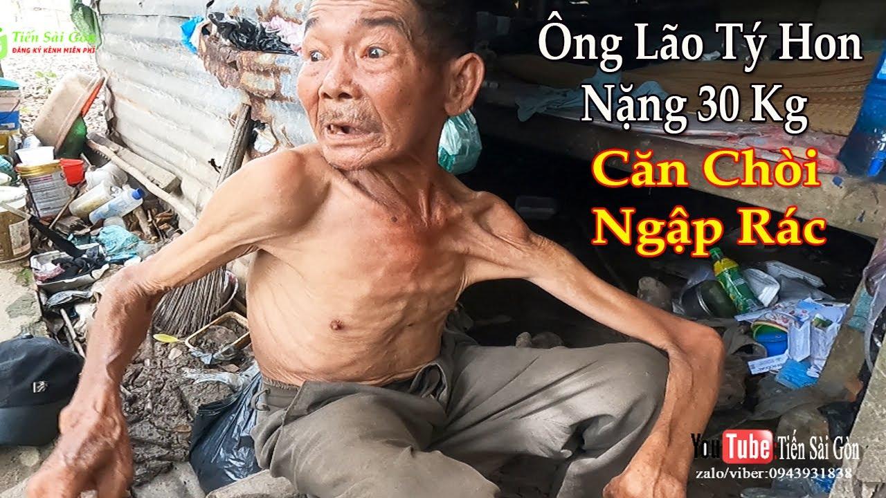 Ông Lão Tý Hon Nặng chỉ 30 kg Sống Ăn Ở Trong Căn Chòi Đầy Rác