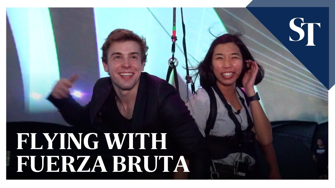 The Straits Times Flying with Fuerza Bruta at the Singapore Night Festival | The Straits Times