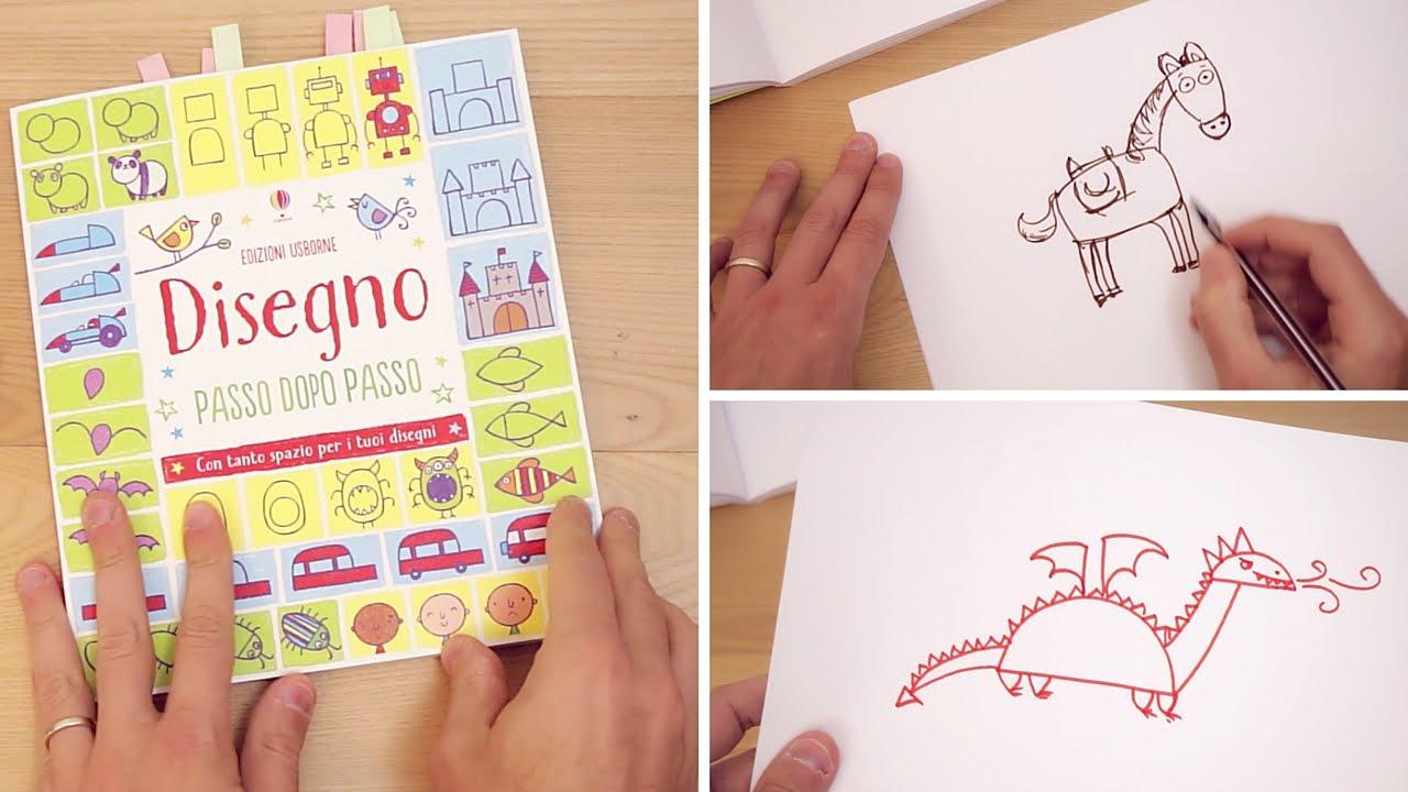 Famoso Come disegnare un drago, un cavallo e cavaliere passo passo - YouTube ZU47