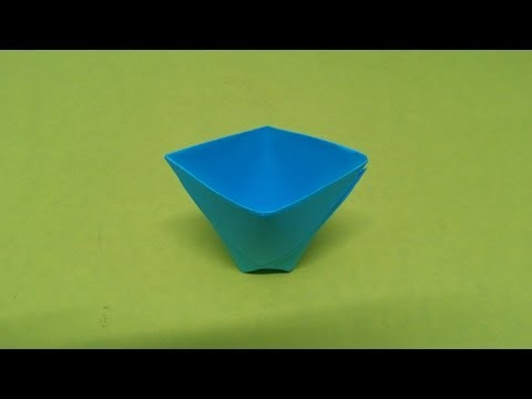 How to make a paper Cup or Origami Cup.