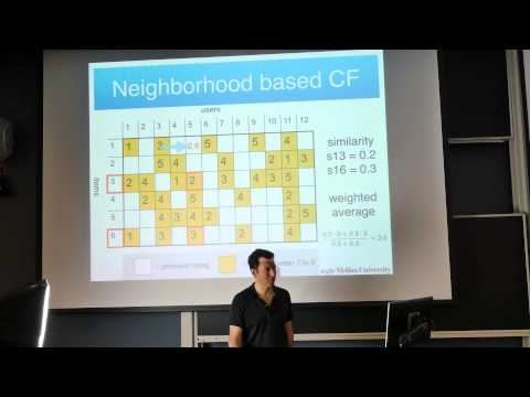8 Recommender Systems - Machine Learning Class 10-701