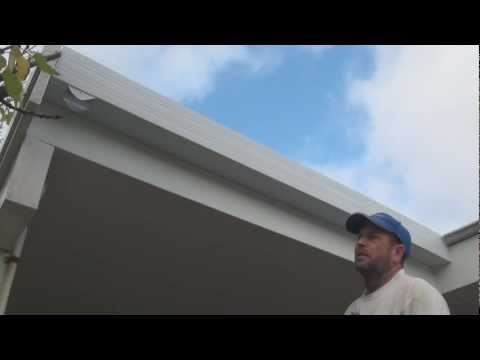 How To Paint Guttering - Painting new galvanized iron gutters.