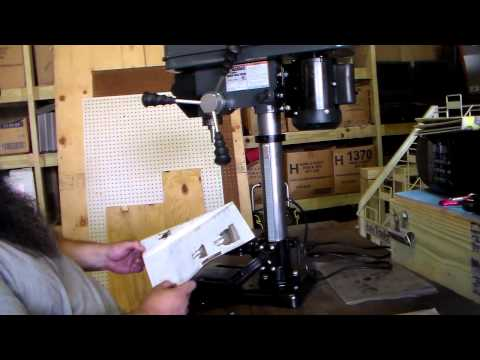 Harbor Freight 10 inch 12 speed drill press assembly.