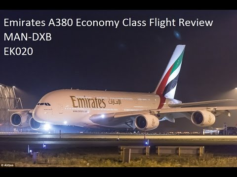 Emirates A380 Economy Class Flight review