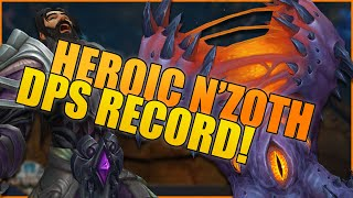 Heroic N'Zoth DPS Record (127k) - 481 iLvl Arms Warrior PvE (WoW BFA 8.3 Ny'alotha Raid)