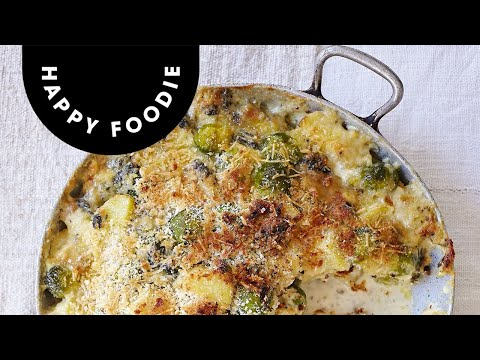 Creamy Cheese, Brussels Sprouts & Almond Gratin | The Great British Bake Off: Winter Kitchen