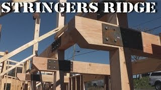 Stringers Ridge Project - Vlog #8 - Timber Frame Post and Beam