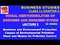 SOCIAL RESPONSIBILITIES OF BUSINESS AND BUSINESS ETHICS - Lecture 3  Business Studies Chapter 6