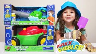Maxx Bubbles Bubble 'N' Go Mower & Bubble 'N' Fun Leaf Blower