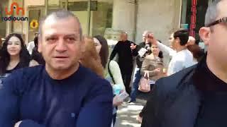 Զինվորները և խաղաղապահները միացել են Սերժ Սարգսյանի հրաժարականը պահանջող հազարավոր ուսանողների երթին