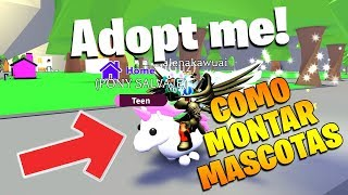 HOW TO MOUNT PETS IN ADOPT ME! - ROBLOX