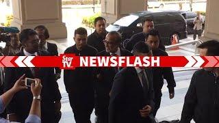 Shafee Abdullah arrives at KL Court Complex