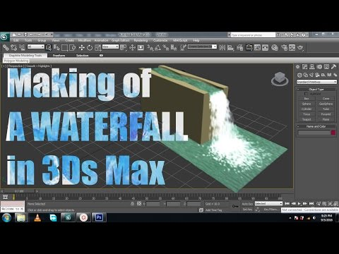 Making Waterfalls in 3ds max using particles