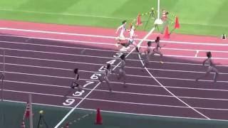 女子100m 決勝 1 齋藤 愛美 (2) 倉敷中央・岡山 11.71 NGR 2...