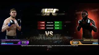 EA UFC Live Event Anthony Johnson Vs Alexander Gustafsson