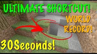 MINECRAFT XBOX  / PS - GLIDE SHORTCUT - 30SECONDS! + EASY WORLD RECORD GUIDE  - TUTORIAL - TU52!