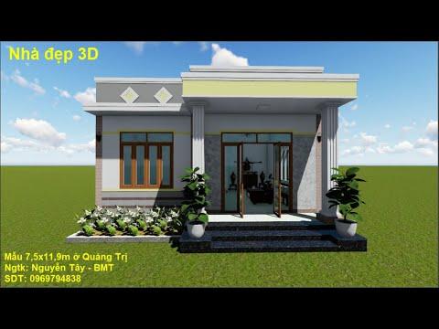 Mẫu nhà cấp 4 đẹp để xây dựng năm 2020 | Simple house
