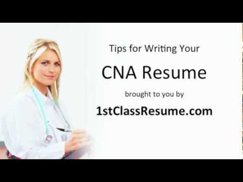 CNA Resume Writing Tips