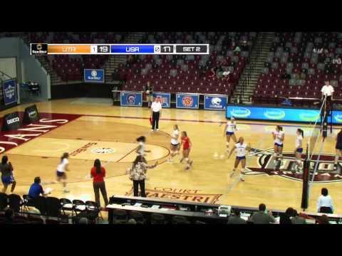 2013 Sun Belt Conference Volleyball Championship - Match 3 UTA vs. South Alabama