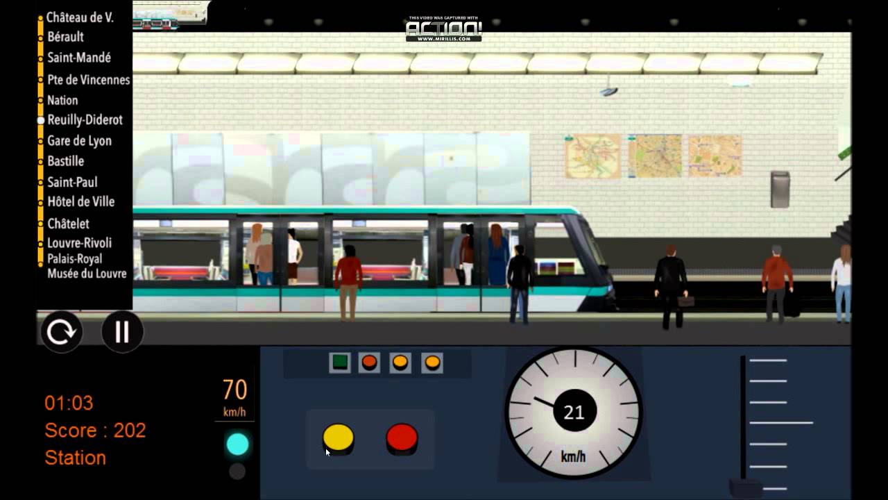 paris metro simulator ligne 1 est youtube. Black Bedroom Furniture Sets. Home Design Ideas