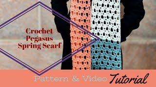 Crochet Pegasus Spring Scarf Tutorial