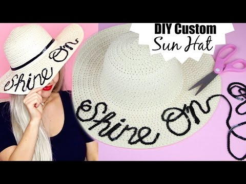 DIY Easy Personalized Sun Hat Under $5 | Cheap No-Sew