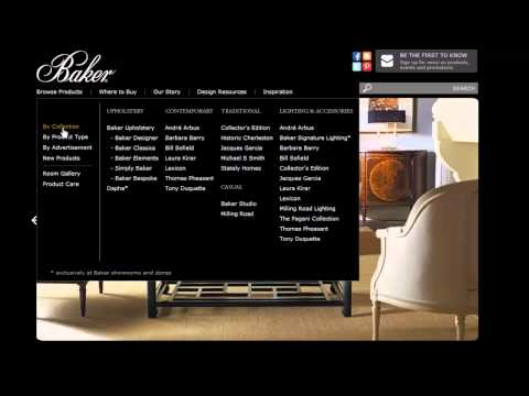 Baker Furniture Website - Finding Products