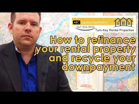 How to finance your buy and hold property and recycle your downpayment