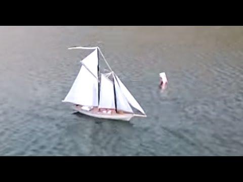 DIY RC Fishing Schooner Yacht. Корабль на радиоуправлении своими руками.
