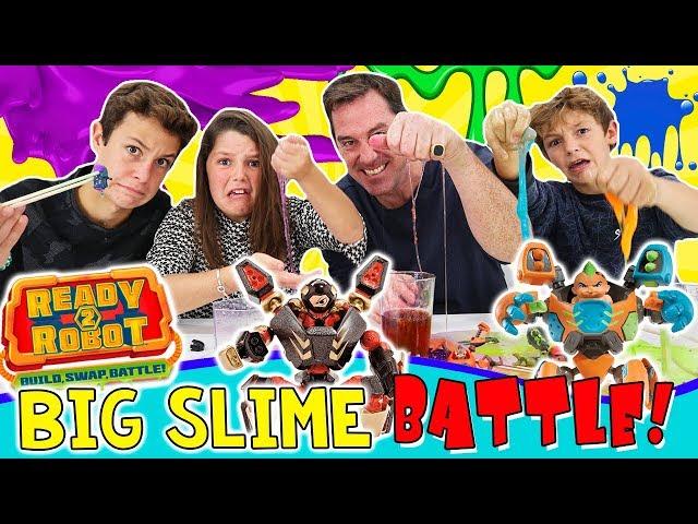 ¡¡Batalla de SLIME con Ready2Robot!! 🤣 Big Slime BATTLE en Familia