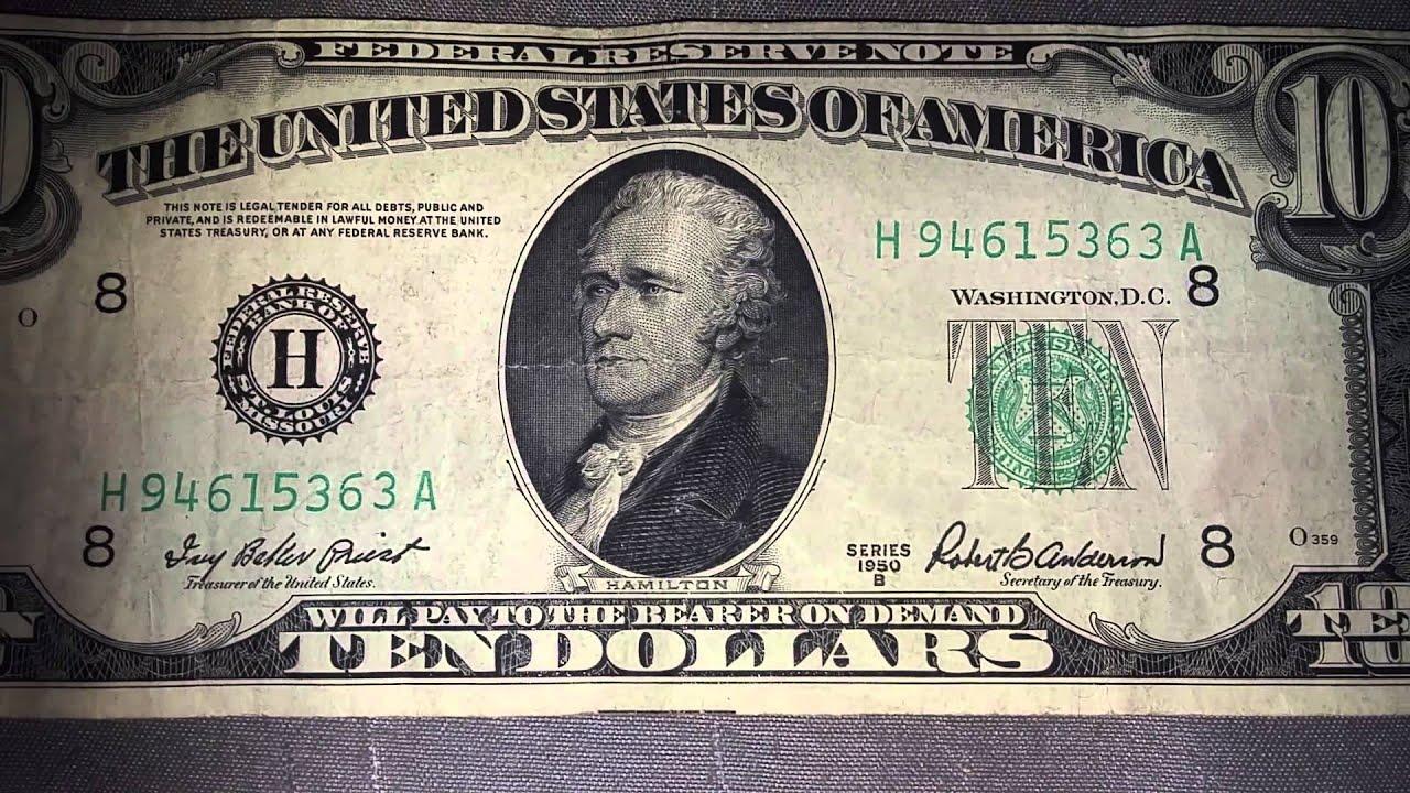 rare ten dollar bill found youtube