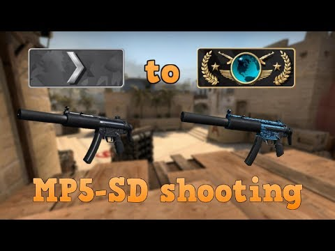 Silver 1 to Global Elite ★ MP5-SD shooting