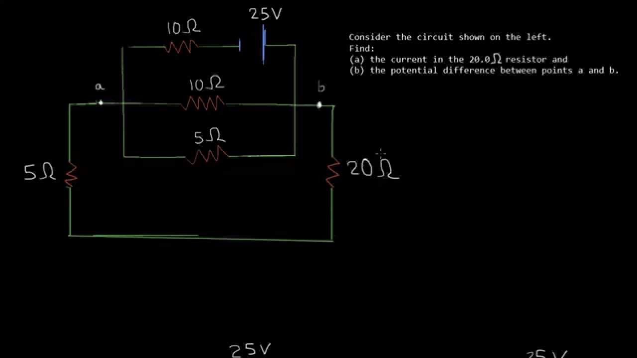Calculate Potential Difference In Circuit