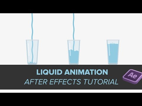 Glass filling with liquid Animation | After effects Tutorial