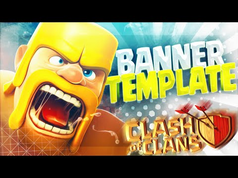 BANNER TEMPLATE / Clash Of Clans FREE