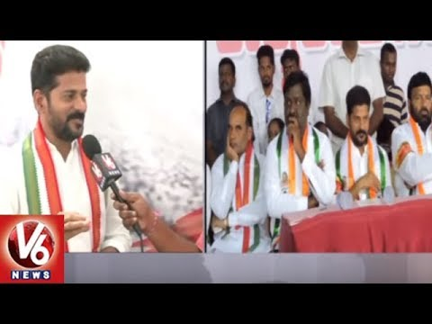 T-Congress MP Candidate Revanth Reddy Face To Face About Malkajgiri Constituency | V6 News