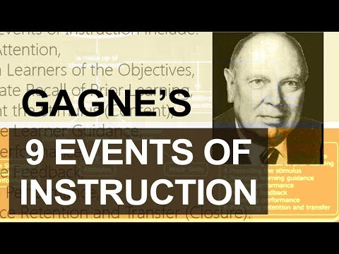 Gagne's Nine Events of Instruction | Robert Gagne Conditions of Learning | Gagne's Theory