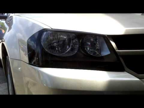 Dodge Avenger Black Out Head Lights Youtube