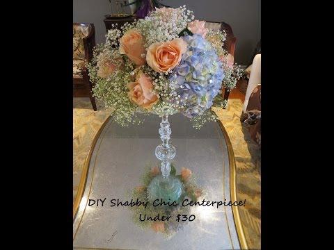 Shabby Chic Wedding Centerpiece Under $30