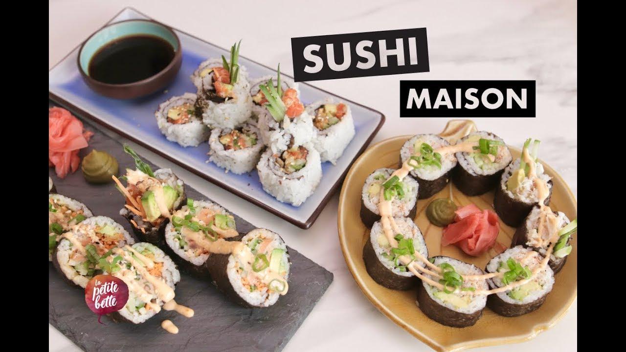 SUSHI MAISON 🍙🍣Comment faire des sushis à la maison 🍤Tuto la petite bette - YouTube