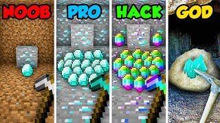 Minecraft NOOB vs. PRO vs. HACKER vs. GOD: DIAMOND MINING in Minecraft! (Animation)