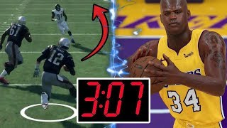 Shaquille ONeal Full Court Shot OR Tom Brady 99 Yard Run! What Happens First?